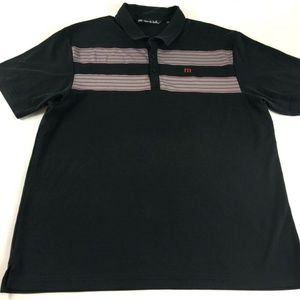 Travis Mathew Golf Mens Black Striped Shirt P5